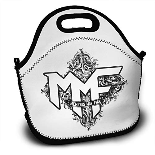 (BDBbuydd Memphis May FIRE Challenger Lunch Bag Tote Handbag Lunchbox Food Container Gourmet Tote Cooler Warm Pouch For School Work Office )