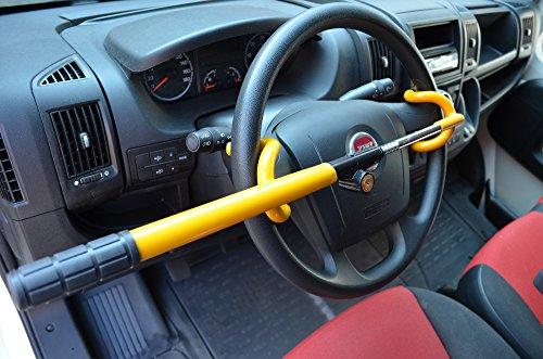TierXXL.de Streetwize Auto Diebstahlsicherung Lenkradkralle Absperrstange