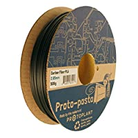 Proto-pasta CFP12805 The Original Carbon Fiber Spool , PLA 2.85 mm, 500 g , Black by Protoplant INC