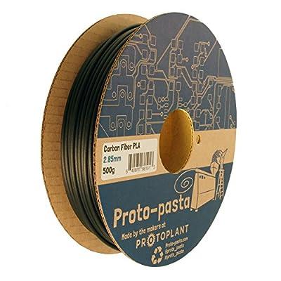 Proto-pasta CFP12805 The Original Carbon Fiber Spool , PLA 2.85 mm, 500 g , Black