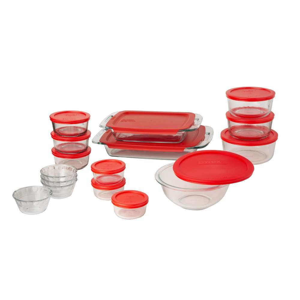 Pyrex Easy Grab Glass Bakeware and Food Storage Set (28-Piece, BPA-free) by Pyrex