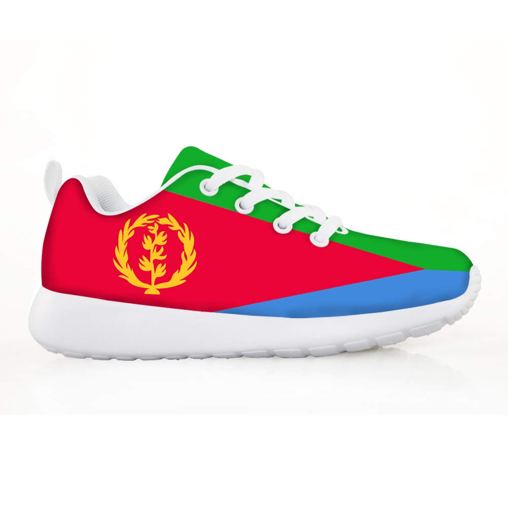 Owaheson Boys Girls Casual Lace-up Sneakers Running Shoes Eritrea Flag