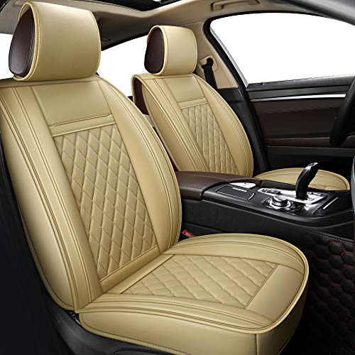 LUCKYMAN CLUB Beige Car Seat Covers Fit for Chevy Impala Malibu Nissan...