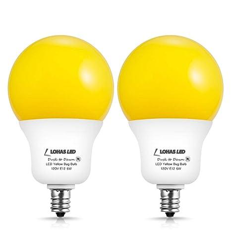 LOHAS A19 foco de luz LED ámbar amarillo, foco de luz de insectos ...