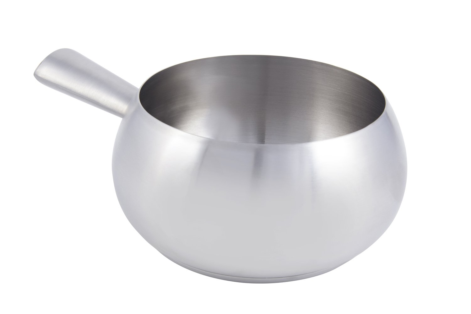 Bon Chef 5150SS Stainless Steel Induction Bottom Fondue Pot with Tapered Handle, 6'' Diameter x 4'' Height
