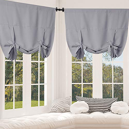 Rose Home Fashion Tie Up Curtain Blackout