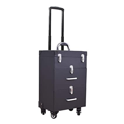 7408d28f4 Trolley Maletín de Maquillaje Profesional Tipo de cajón de múltiples Capas  Caja Grande de vanidad Capacidad