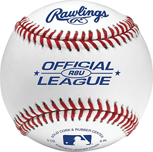 Rawlings Official League Recreational Baseballs & Bucket, 24 Count, R8U by Rawlings