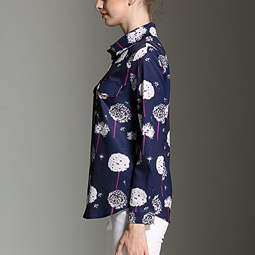 Feixiang - Camisas - para mujer Floral