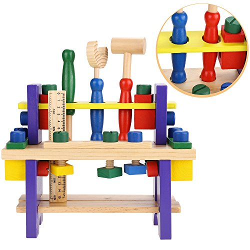 arshiner wooden tool kits workbench play carpentry construction toy set for kids buy online in. Black Bedroom Furniture Sets. Home Design Ideas