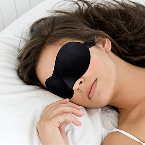 Sleep Mask Eye Bedtime Contoured & Comfortable Sleeping Travel Blindfold Shade Cover Relax 3d Soft Padded New Rest Choose Aid 1 Gift Novelty (Cute Halloween Invitation Rhymes)
