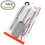 3Pcs Stainless Steel Kitchen Set Fish Scale Cleaner, Paring Knife, Grater
