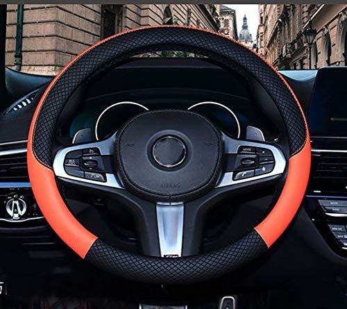 [해외]Mayco Bell 극세사 가죽 스티어링 휠 커버 웨이브 라인 스플라이스 X-스티치 패턴 / Mayco Bell 극세사 가죽 스티어링 휠 커버 웨이브 라인 스플라이스 X-스티치 패턴