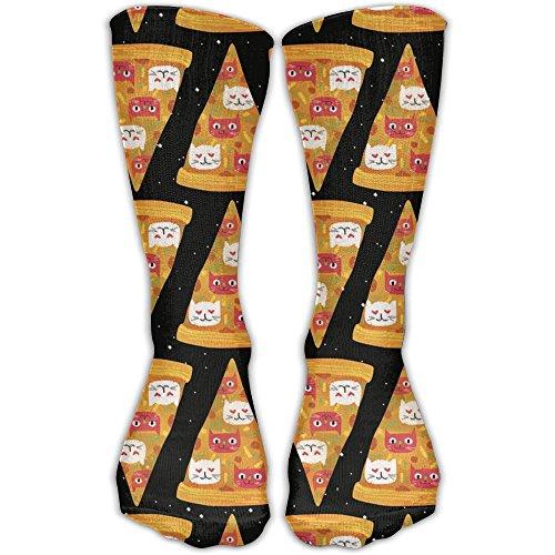 Seamless Pizza Kitten Unsystematic Long Socks Comfortable Warmer Stockings 1 Pair For Women & Men Sport Home High Socks