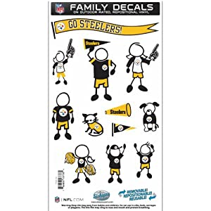 NFL Pittsburgh Steelers Medium Family Decal Set from Siskiyou