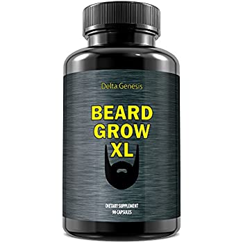 Beard Grow XL | Facial Hair Supplement | Vegan | #1 Mens Hair Growth Vitamins | for Thicker and Fuller Beard