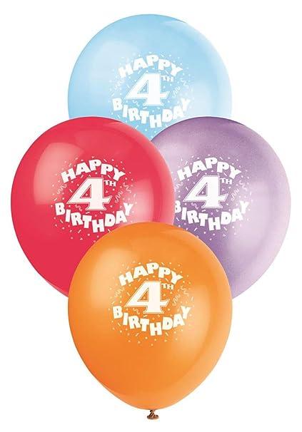 12quot Latex Happy 4th Birthday Balloons
