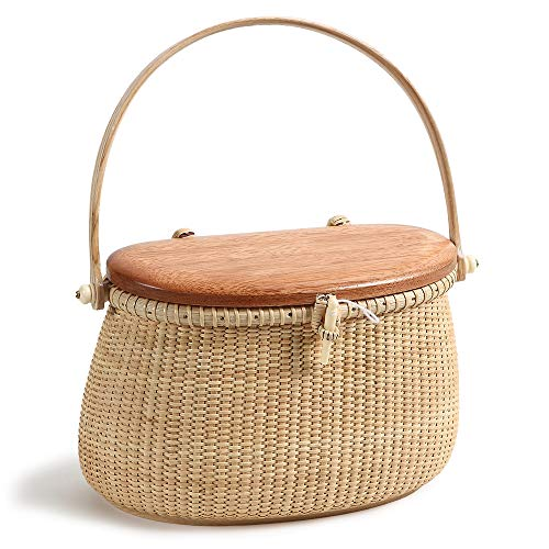 Crescent Purse Handwoven Rattan Totes for Women Leather Shoulder Straps Rattan Purse Straw Bags Women Weave Totes Bag Summer Beach Purse