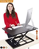 Standing Desk - X-Elite Pro Height Adjustable Desk Converter - Size 28in x 20in Instantly Convert any Desk to a Sit / Stand up Desk (Black)
