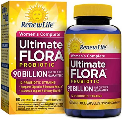 Renew Life - Ultimate Flora Probiotic Women's Care - 90 billion - 60 vegetable capsules (Packaging May Vary)