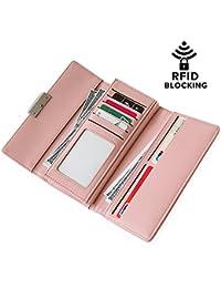 RFID cartera Womens–Tarjeta de Crédito Protector de seguridad Bloqueo cartera tarjeta Organizador titular de...