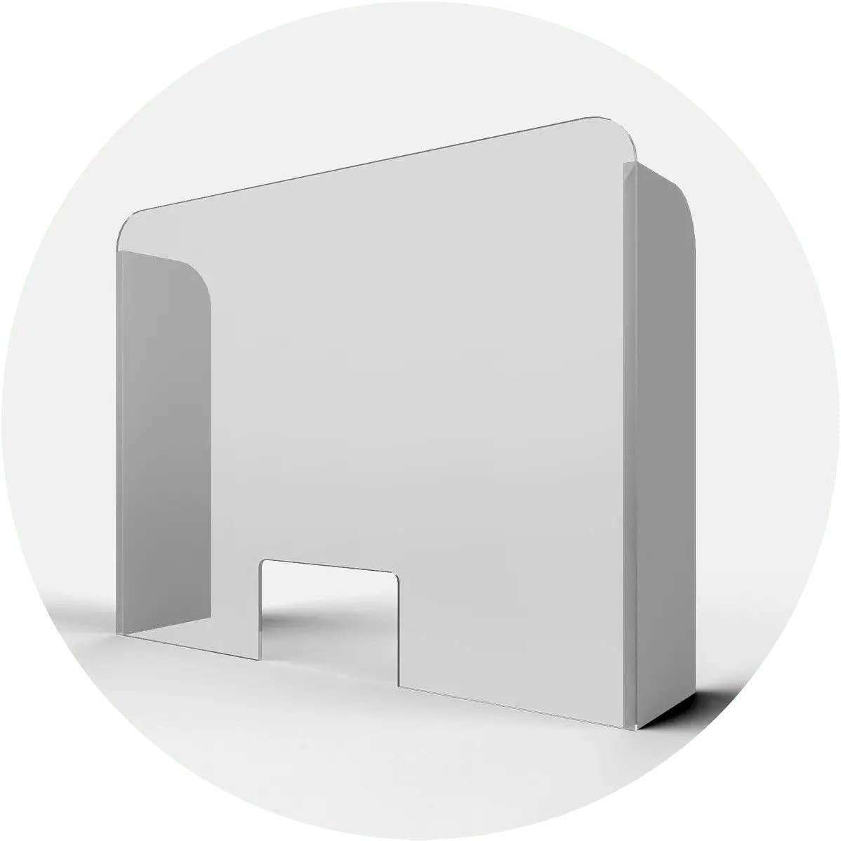 Mampara Protectora de Metacrilato Transparente Laterales PVC para Mostrador o Escritorio en oficinas, tiendas, recepción, supermercados, farmacias, comercios, colegios (60x60 cm, Abertura 25x15 cm): Amazon.es: Bricolaje y herramientas