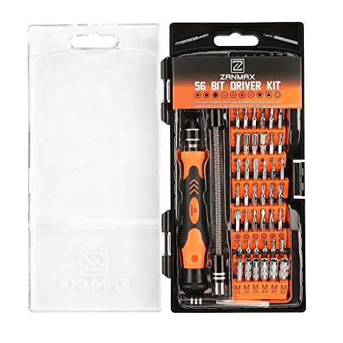 Precision Screwdriver Set, 56 Bits Magnetic 60 in 1 Driver Professional Repair Tool Kit for PC/iPhone X, 8/Smart Phone/Tablet/Xbox/Clock DIY etc, with Extension Shaft Multitool Nut Driver T4 T5 T6 T7