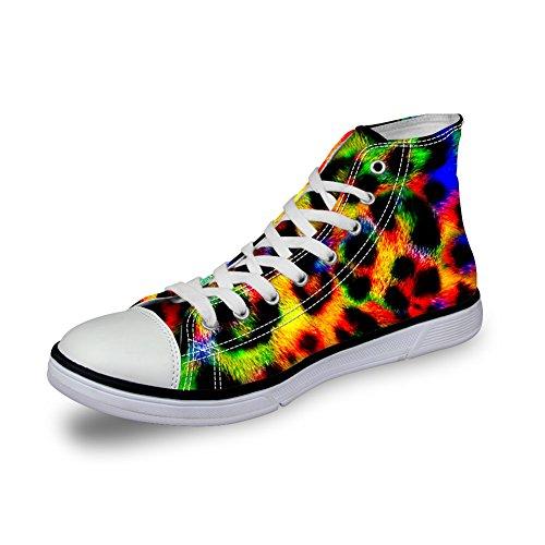 Leopard Print High Top - FOR U DESIGNS Casual Leopard Print Men's Canvas Comfortable High Top Sneaker US 10