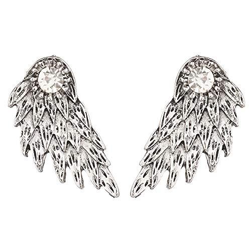 s Rhinestone Crystal Dangle Earrings Drop Pin Dangling Earrings Women Girls Cute Wedding Bridal Holiday Chandelier Delicate Charms Jewelry Antique Silver ()