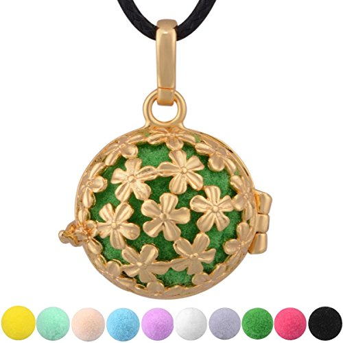 24' Daisy (Eudora Daisy Flowers Essential Oil Perfume Diffuser Locket Pandent Necklace 24'' &10 Colors Pompons)