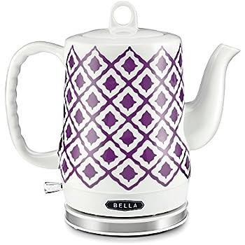 Amazon Com Bella 1 2l Electric Ceramic Tea Kettle With