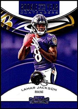 2018 Contenders Rookie of the Year Contenders Football  RYA-LJ Lamar Jackson  Baltimore Ravens 6b161f10b