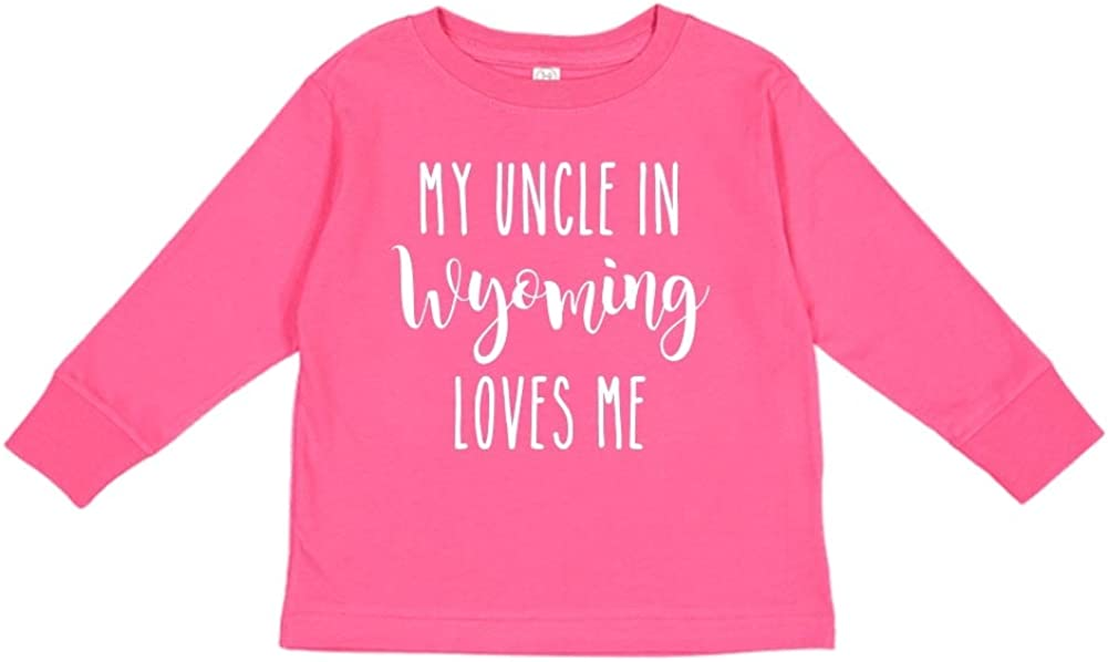 Toddler//Kids Long Sleeve T-Shirt My Uncle in Wyoming Loves Me