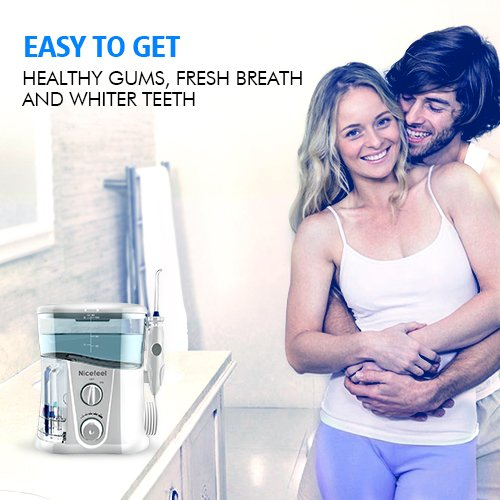 Nicefeel Water Flosser - Water Flossing Dental Oral Irrigator with 10 Pressures, Supports 150 Seconds Cleaning, Dental Flosser with 7 Tips for Family by Nicefeel (Image #3)