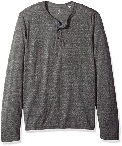 AG Adriano Goldschmied Men's Clyde Long Sleeve Heathered Henley, Heather Grey, M by AG Adriano Goldschmied