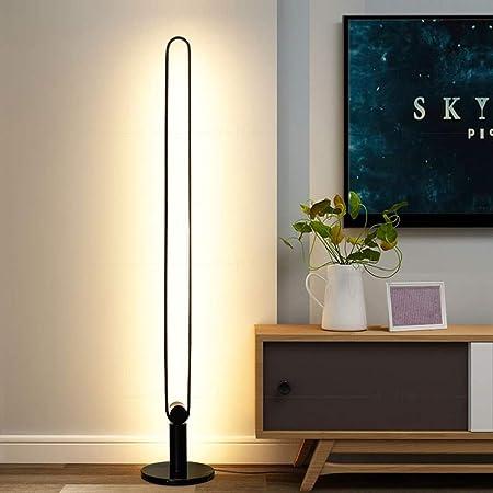 NO BRAND Lámpara de pie - Habitación Moderna Simple Dormitorio nórdico LED Bed Head Personalidad Creativa iluminación Vertical Living 01-03 (Color : Black): Amazon.es: Hogar