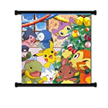 """Pokemon Anime Fabric Wall Scroll Poster (32"""" x 32"""") Inches"""
