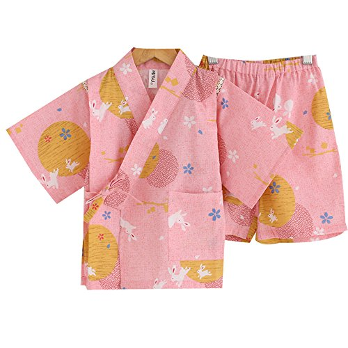 [Marshel Kimono Costume for Babys Japanese Cosplay Pink AX-JP-017-PK-90] (Female Video Game Costumes)