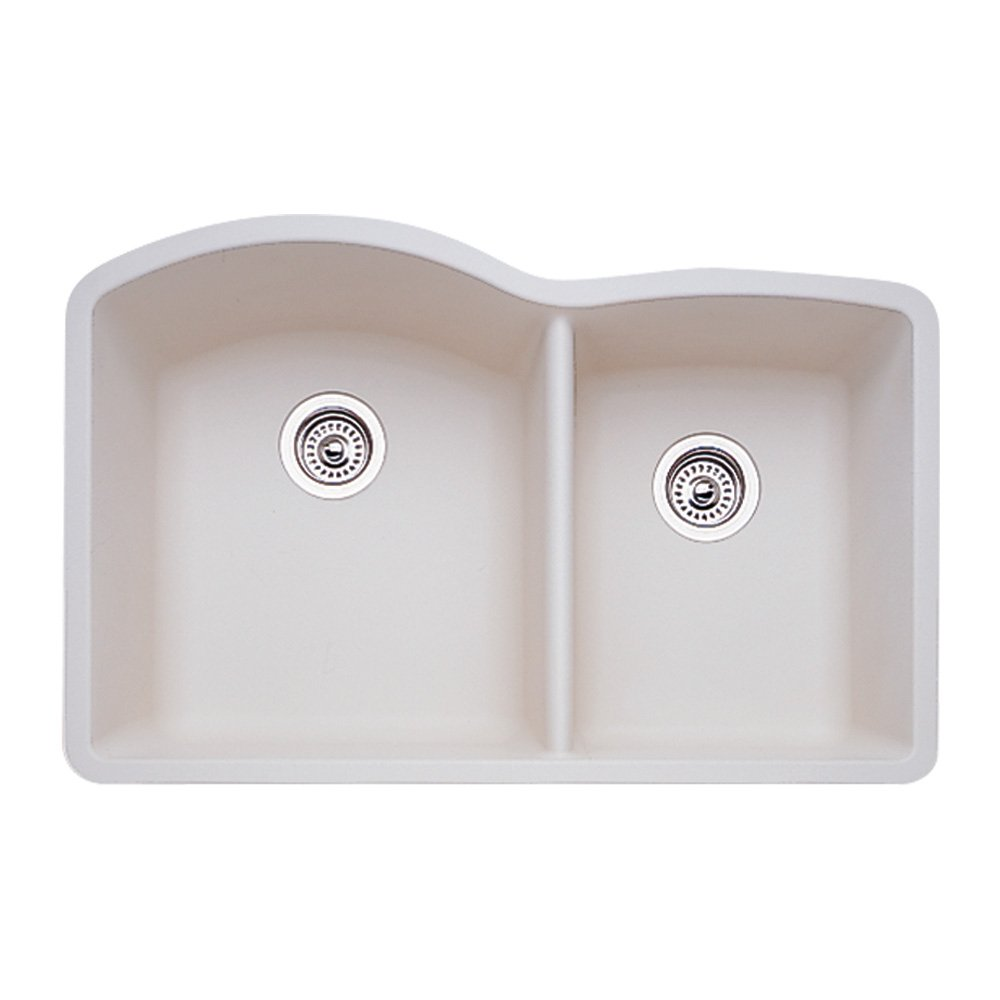 Blanco 440181 Diamond 1 3/4 Bowl Kitchen Sink, Biscuit Finish   Sink  Strainers   Amazon.com