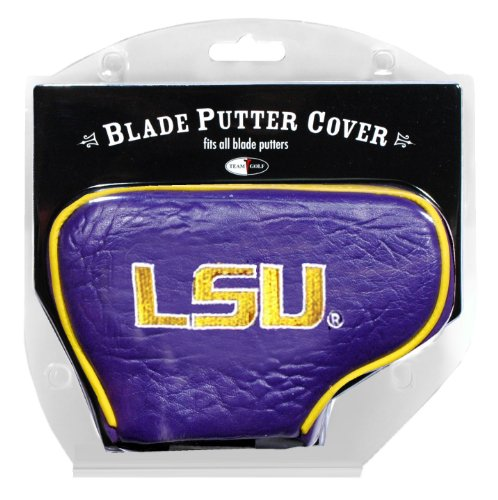Team Golf NCAA LSU Tigers Golf Club Blade Putter Headcover, Fits Most Blade Putters, Scotty Cameron, Taylormade, Odyssey, Titleist, Ping, Callaway ()