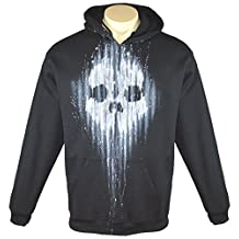 Exotic Gamer Gear Men's Call of Duty Ghosts Airbrushed Tribute Hoodie + Gamertag on Sleeve, Large, Black