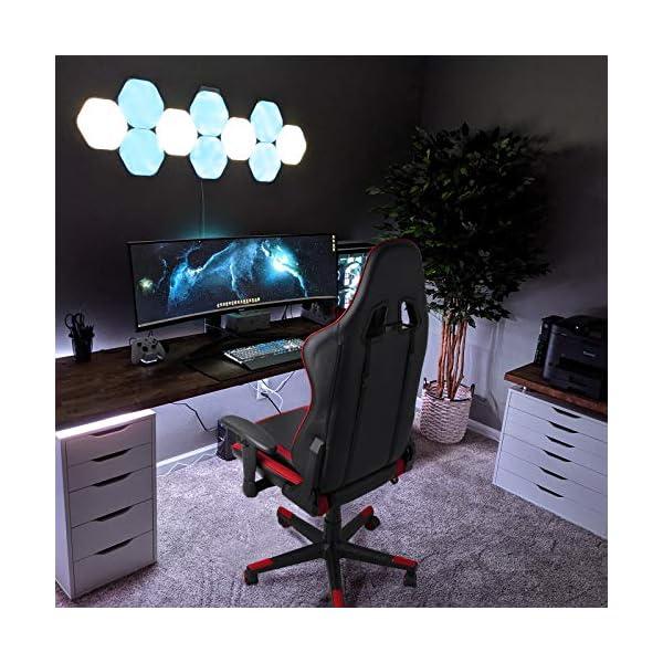 BASETBL Chaise Gaming, Fauteuil Gamer Ergonomique, Réglable en Hauteur et Inclinaison, avec Coussin Lombaire et Repose…