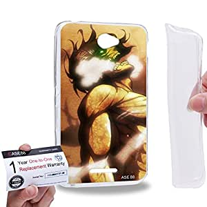 Case88 [Sony Xperia E4 / E4 Dual] Gel TPU Carcasa/Funda & Tarjeta de garantía - Attack on Titans Elen Yeager 0713