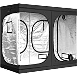 iPower 96'x48'x78' Hydroponic Water-Resistant Grow Tent with Removable Floor Tray for Indoor Seedling Plant Growing 4'x8'