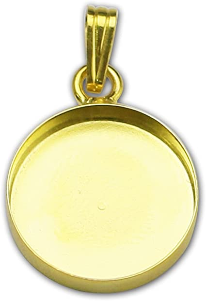 Silver Yellow Plated Clock Charm 25mm