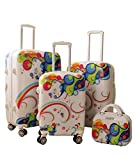 Zota Luggage 4 Piece Traveler Hardside Spinner TAS Locks With Free luggage Cover