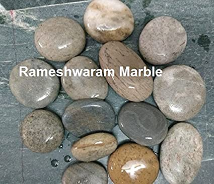Amazon Com Rm 30 60mm Rever Flat Pebbles 6kg For Garden Home