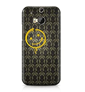 Sherlock Holmes Baker Street Bored Wall Smiley Face Hard Plastic Phone Case Cover For Htc One M8