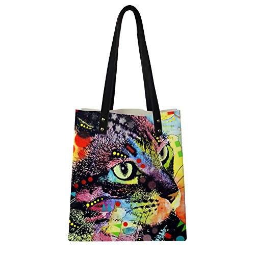 Travel Bag with Women Print Tote Color Bag Bags Tote Ipad Handbag Advocator Leather Summer for Wallet Beach Animal 4 PU axY7qzF