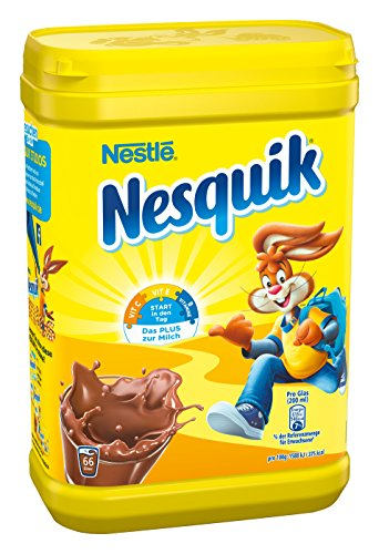 Nestlé Nesquik kakaohaltiges Getränkepulver, 2er Pack (2 x 900g) Dose